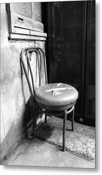 Service Chair Metal Print