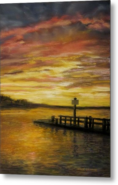 Sesuit Harbor At Sunset Metal Print