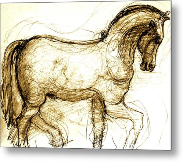 Set The Stallion Free Metal Print by Dan Earle
