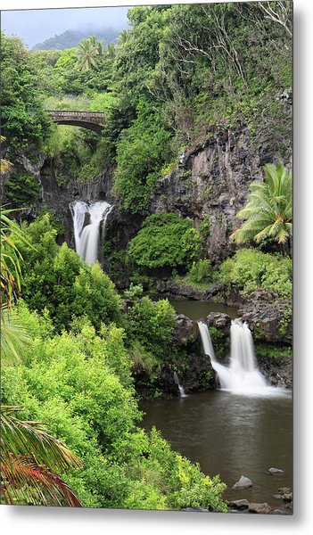 Seven Pools Hana Metal Print