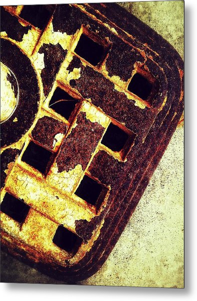 Sewer Drain Metal Print by Olivier Calas
