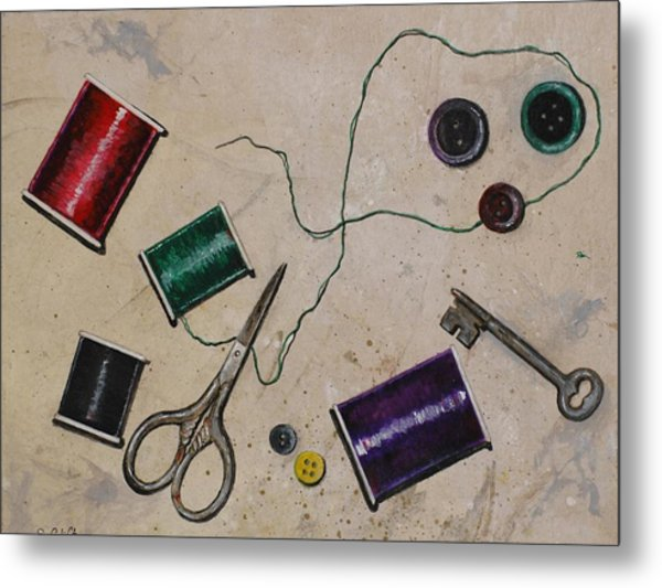 Sewing Notions Metal Print by Sandy Clift
