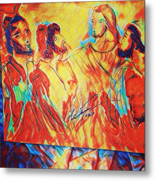 Shadrach, Meshach And Abednego In The Fire With Jesus Metal Print