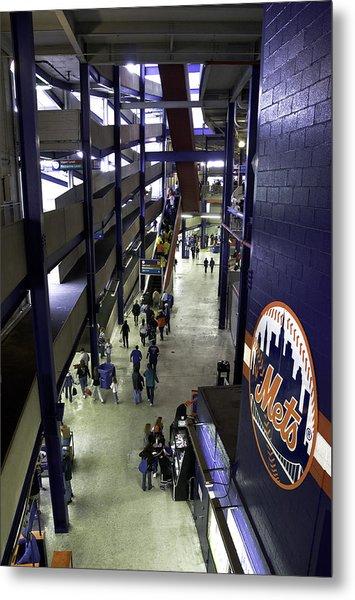 Shea Stadium Walkways Metal Print