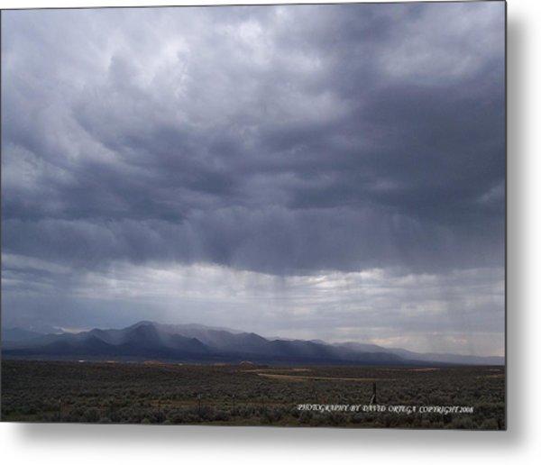 Shear Rainfall Metal Print by David Ortega