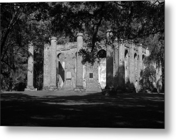 Sheldon Church 7 Bw Metal Print