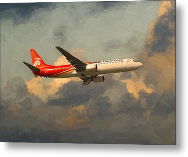 Shenzhen Airlines B739 On Route Metal Print