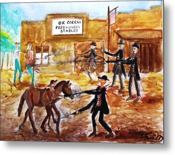 Shootout At The O.k. Corral Metal Print