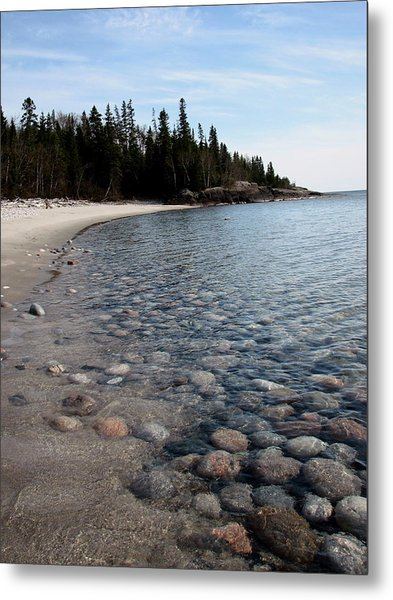 Shoreline Serenity Metal Print by Laura Wergin Comeau