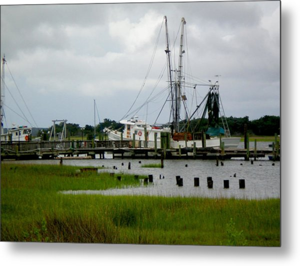 Shrimp Boats Metal Print by Jeffrey Zipay