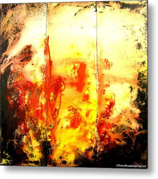 Signed By Fire Metal Print by Peter Dranitsin