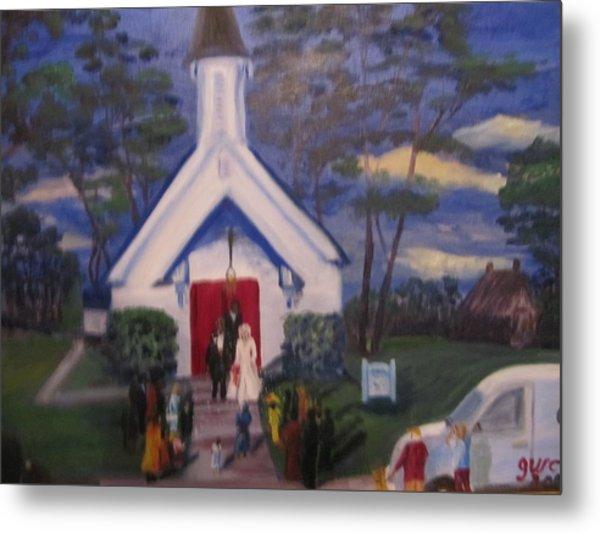 Simpson Christian Community Church Metal Print by Gloria Condon