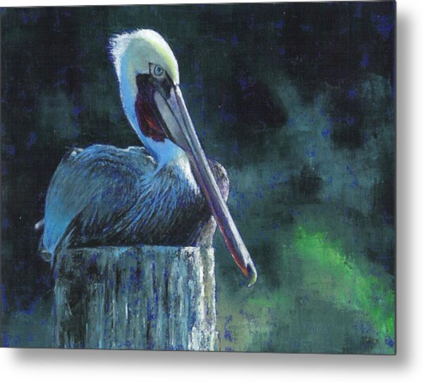 Sitting On The St Marks Metal Print