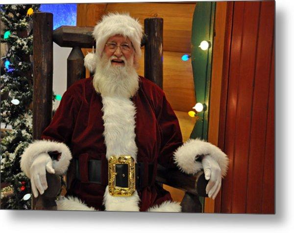 Sitting Santa Claus Metal Print
