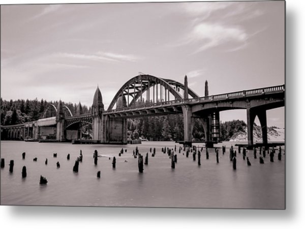 Siuslaw River Bridge Metal Print by HW Kateley