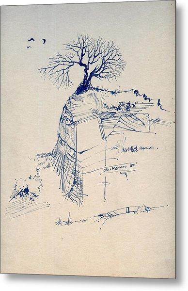 Sketch 7 Metal Print by Joan Kamaru