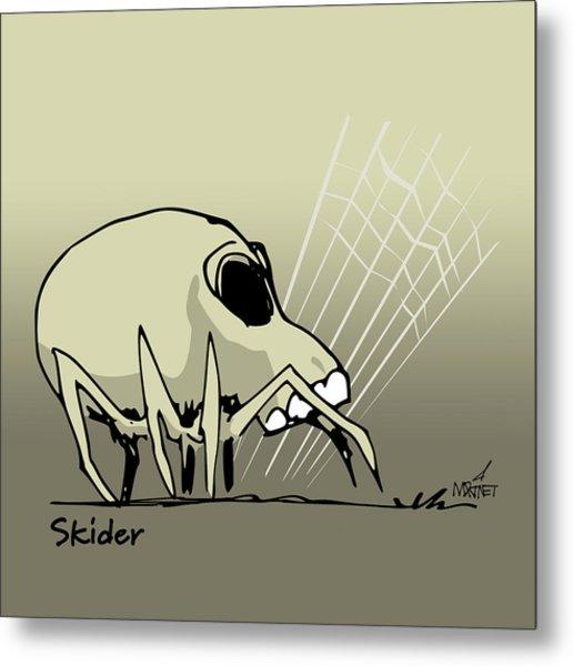 Skider Metal Print