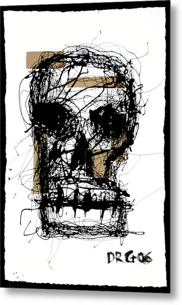 Skull Metal Print by Dmitry Gubin