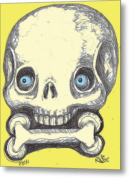 Skullnbone Metal Print by Robert Wolverton Jr