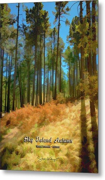 Sky Island Autumn Metal Print