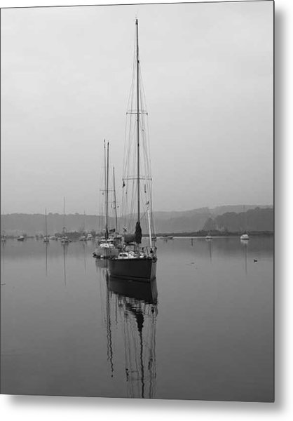 Sleeping Yacht Metal Print by Arthur Sa