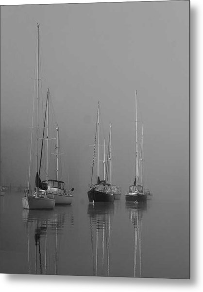 Sleeping Yachts  Metal Print by Arthur Sa