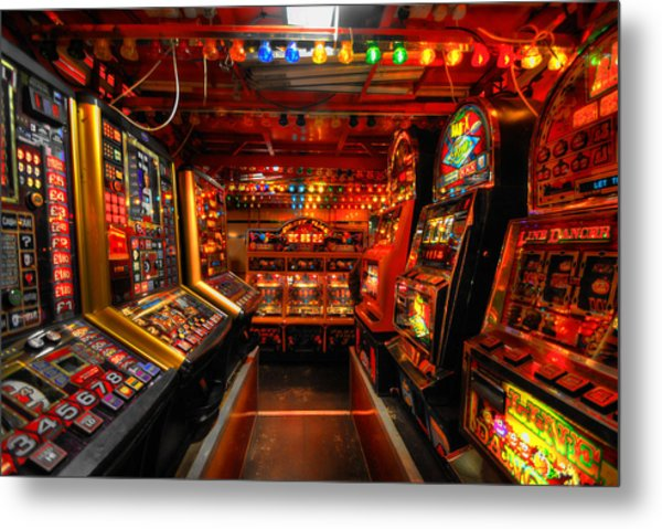 Slot Machines Metal Print