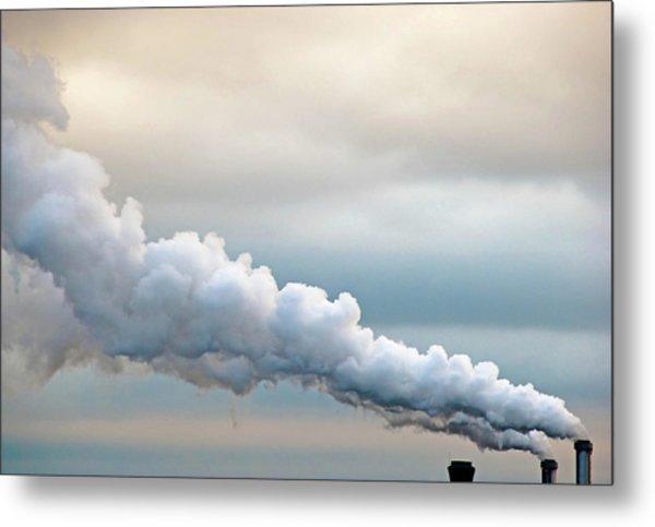 Smoking In The Clouds Metal Print