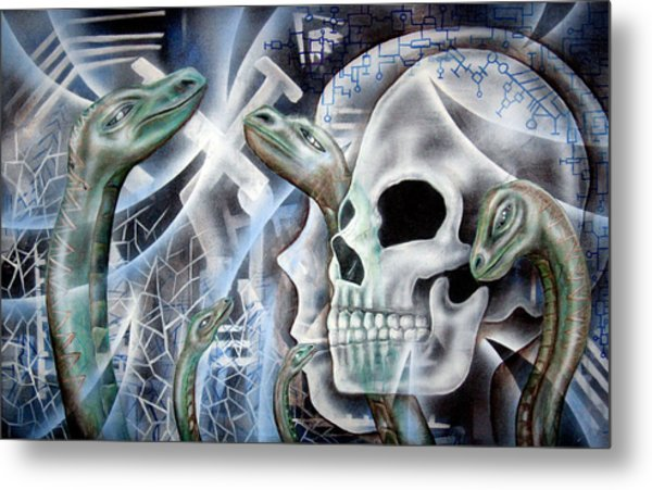 Snake Creation Metal Print by Leigh Odom