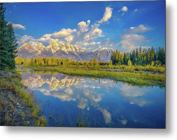 Snake River Reflection Grand Teton Metal Print