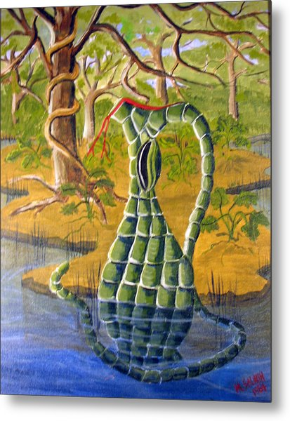 Snake Skin Pitcher Metal Print by Myrna Salaun