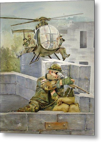 Sniper Military Tribute Metal Print by Kerra Lindsey