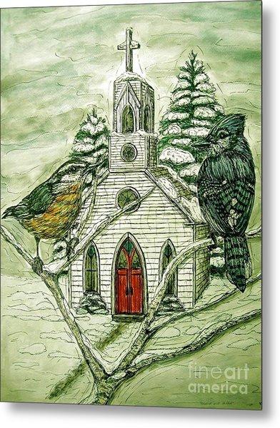 Snowbirds Visit St. Paul Metal Print