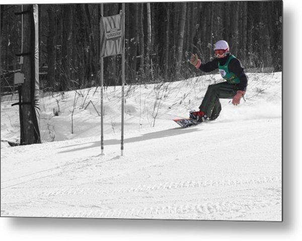 Snowboard Racer Metal Print