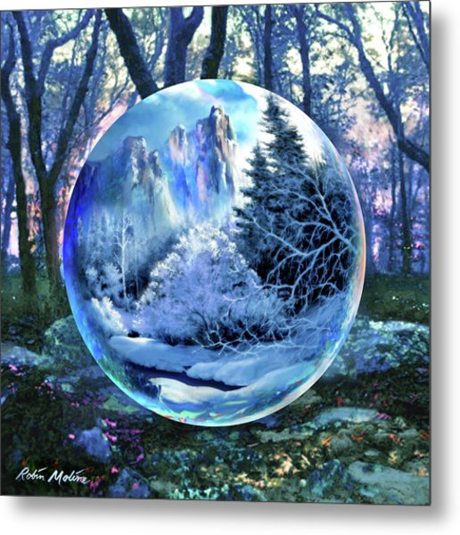Snowglobular Metal Print