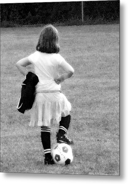 Soccer Fashionista Metal Print by Keith Campagna