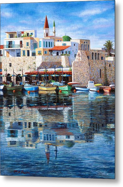 Somewhere In The Mediterranean Metal Print