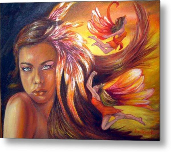 Soulfire Metal Print by Anne Kushnick