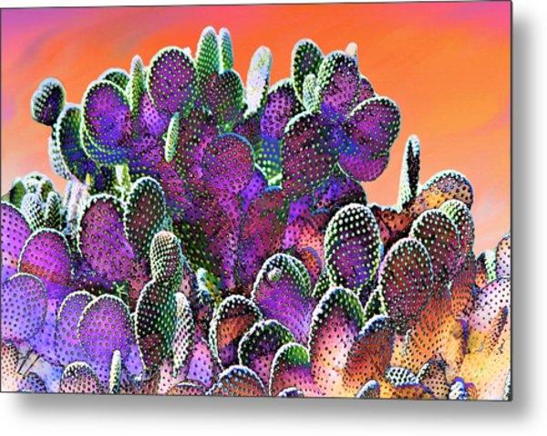 Southwest Desert Cactus Metal Print
