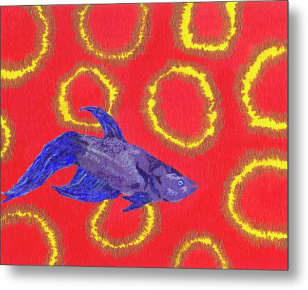 Space Fish Metal Print by Rishanna Finney