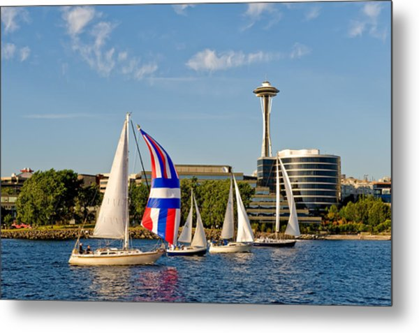 Space Needle Seattle Metal Print by Tom Dowd