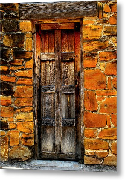 Spanish Mission Door Metal Print