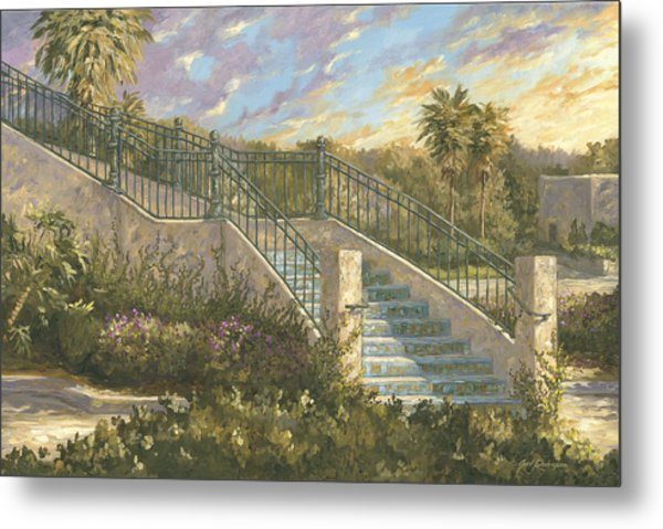 Spanish Steps Metal Print