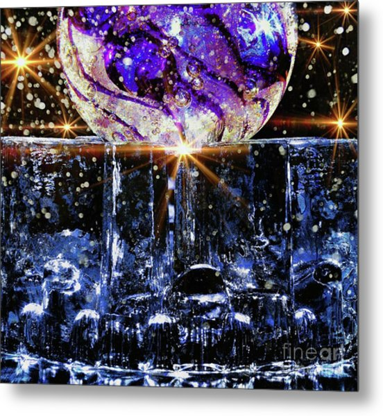 Sparkling Glass Metal Print