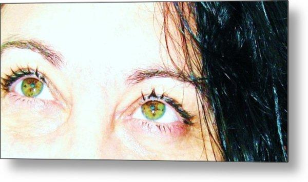 Speckled Eyes Metal Print by Maria Scarfone