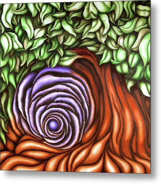 Spiral Tree Metal Print