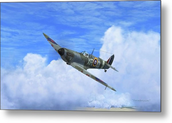 Spitfire Airborne Metal Print