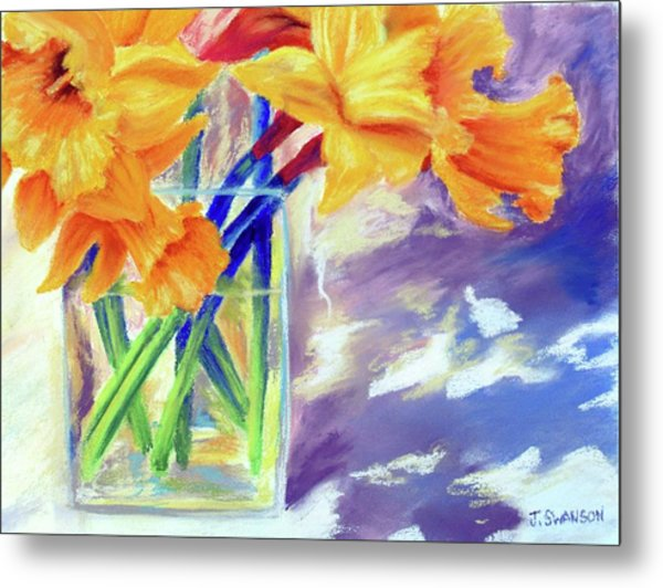 Spring Daffodils Metal Print by Joan Swanson