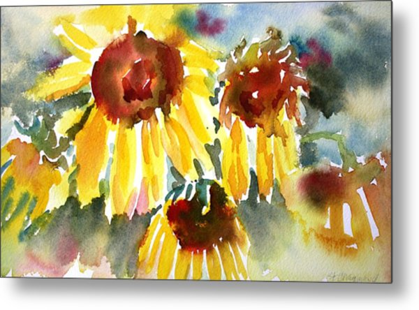 St. Charmand Sunflowers Metal Print