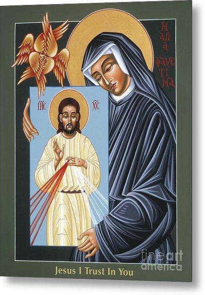 St Faustina Kowalska Apostle Of Divine Mercy 094 Metal Print